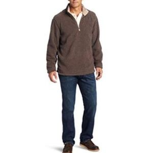 True Grit Sueded Soft Sherpa 1/4 Zip Pullover